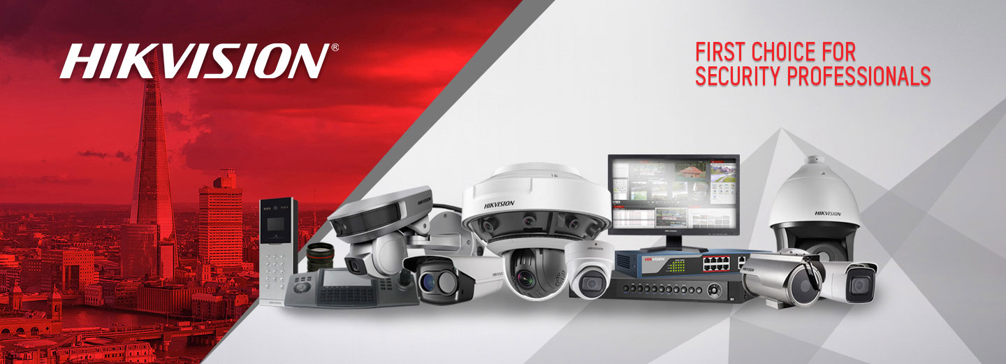 An image showing some Hikvision CCTV security camera we offer